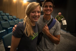 Me and Craig DeMartino after our talks! Photo Brian Goldstone.
