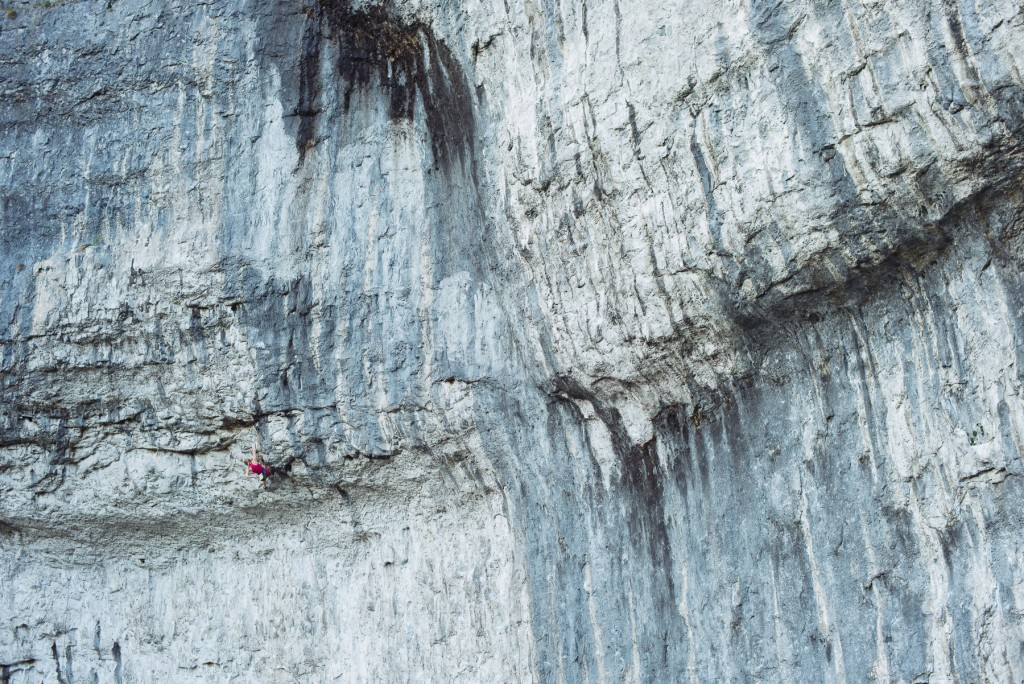 Bat route (8c) Malham, UK - photo Jordan Manley